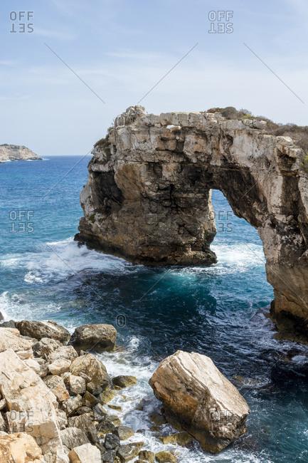 Spain- Mallorca- Cala Santanyi- Rock arch Es Pontas