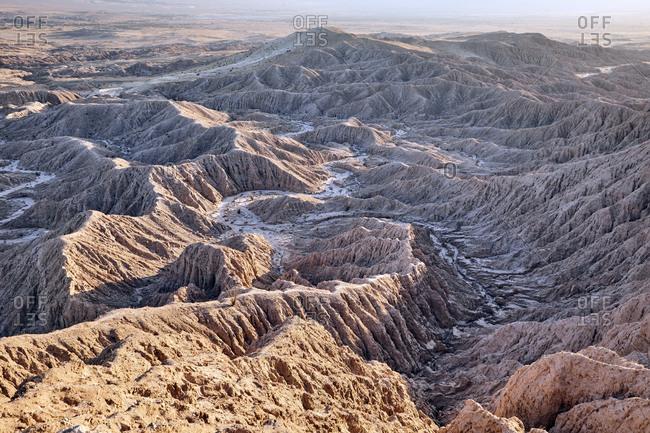 Scenic view of barren mountain ranges