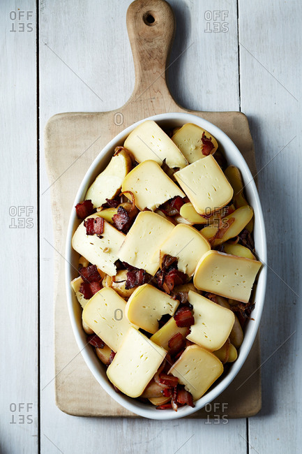 Tartiflette before being cooked
