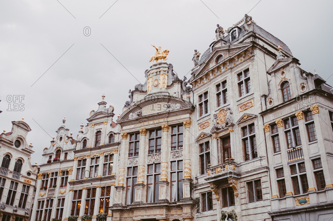 Regal architecture along the Grand Place in Brussels