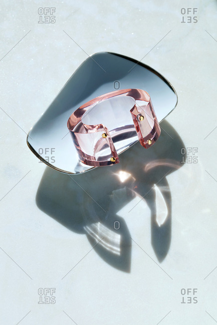 Clear pink bangle