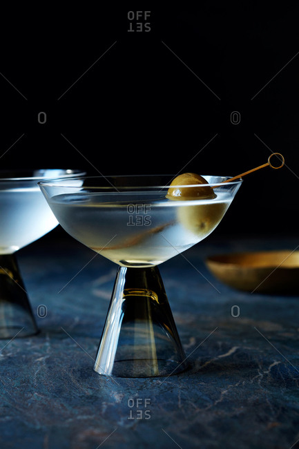 Martini served in unique glass
