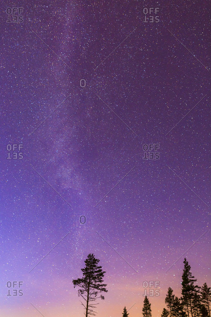 Starry night sky in Mottorp, Sweden