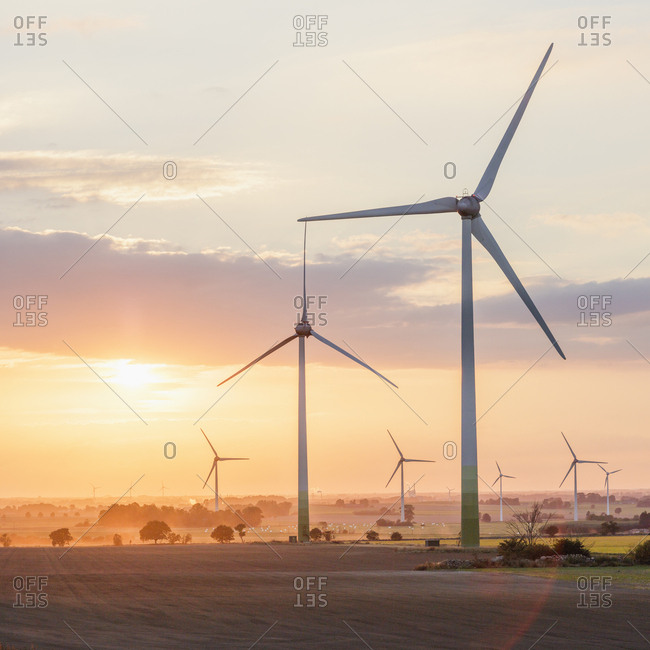 Windmill farm in Hurva, Sweden