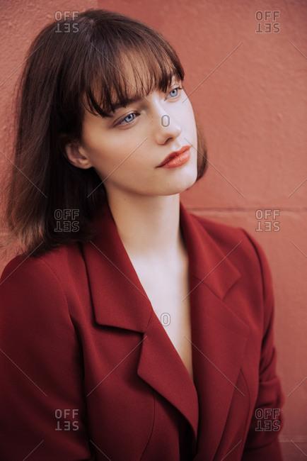 Monochromatic fashion portrait