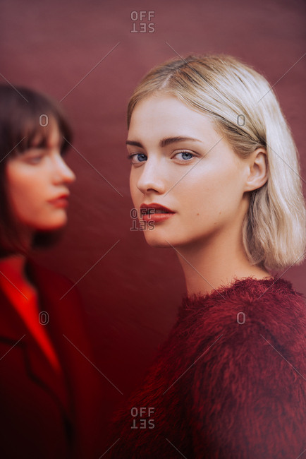 Stylized fashion portrait of twins