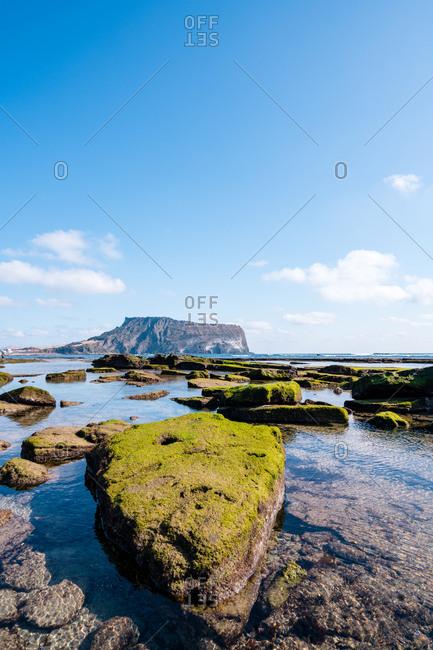 Rocky coast of Seongsan Ilchulbong Tuff Cone