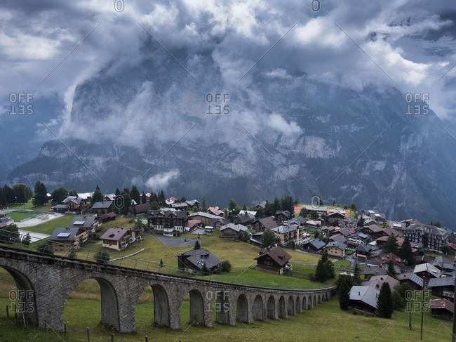 Switzerland village in the mountains