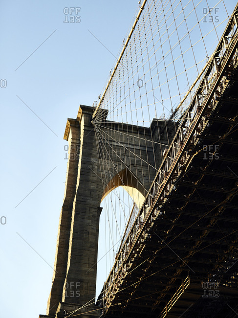 Cables and towers of the Brooklyn Bridge