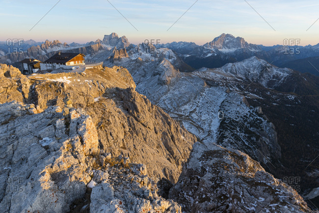 Italy- Veneto- Dolomites- Pelmo and Civetta in the evening light