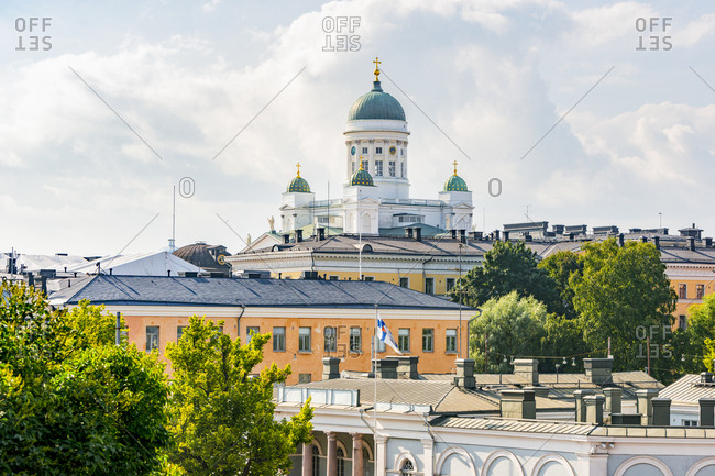 Finland- Helsinki- View to Helsinki Cathedral