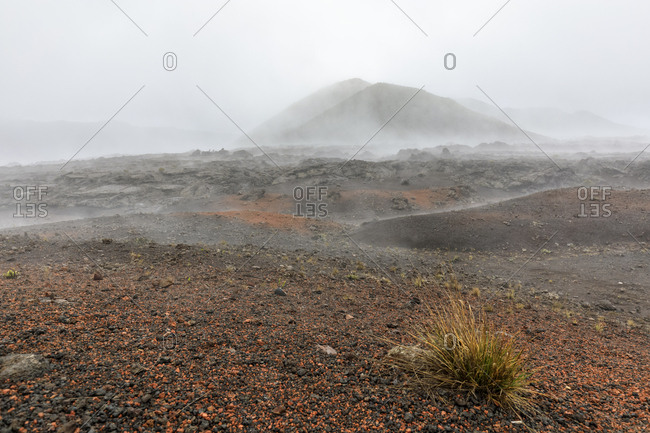 Reunion- Reunion National Park- Piton de la Fournaise- Route du volcan- Plaine des Sables