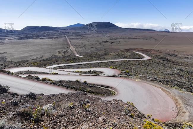 Reunion- Reunion National Park- Piton de la Fournaise- Route du volcan- Plaine des Sables- Pas des Sables
