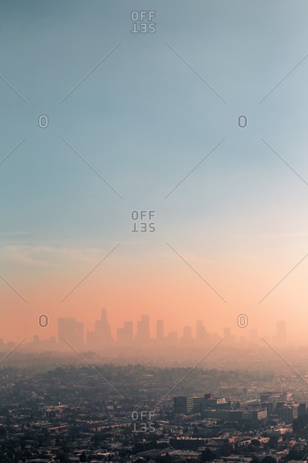 USA- California- Los Angeles- smog over Los Angeles