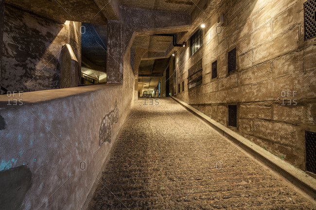 Europe-January 16, 2015: Underground ancient buildings