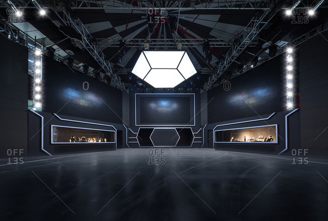 Shanghai, China-April 27, China: The stage of the theatre