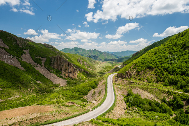 Mountain road in Inner Mongolia, China