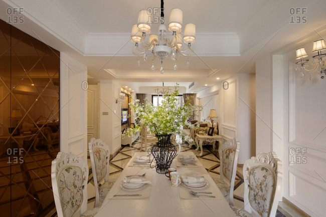 Beijing, China-September 27, 2014: Europe type style of the restaurant's interior