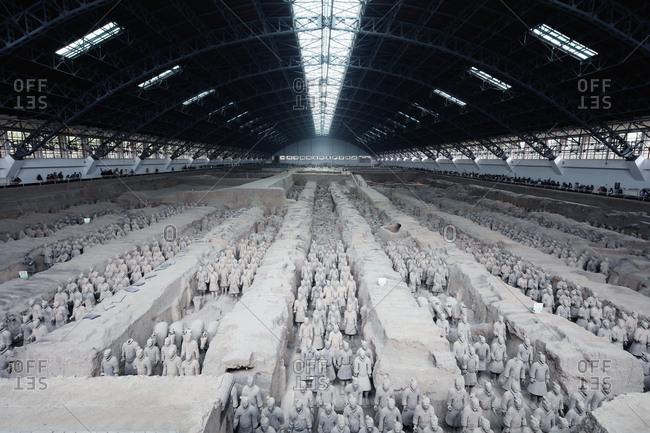 Xi'an, China-October 22, 2015: The Terra Cotta Warriors