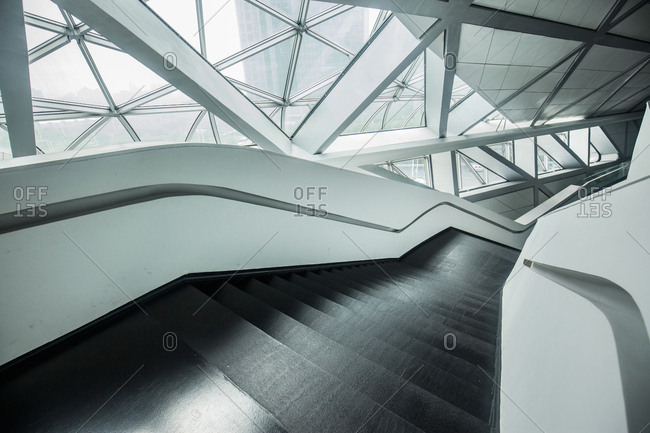 Guangzhou, China-December 31, 2014: Architectural structure of Guangzhou Grand Theater