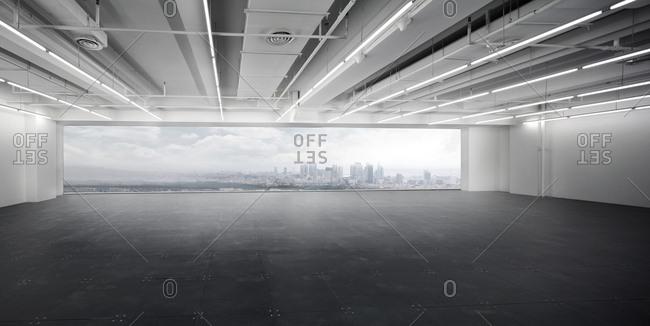 Shanghai, China-November 20, 2014: High-rise building interior