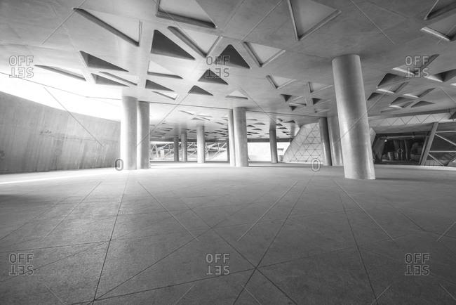 New York, USA-November 22, 2015: The gallery underground passage