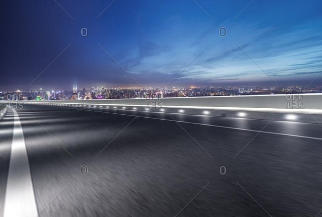 Shanghai city road at night