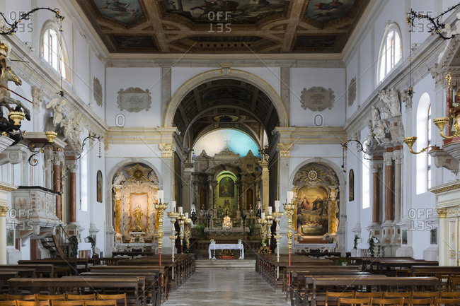 Piran, Slovenia, Europe - June 4, 2017: The Church of Saint George