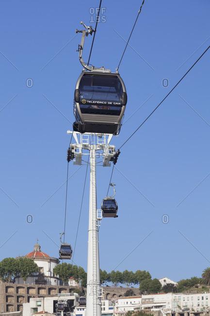 Vila Nova de Gaia, Porto (Oporto), Portugal, Europe - June 15, 2017: Teleferico de Gaia cable car, Vila Nova de Gaia, Porto (Oporto), Portugal, Europe