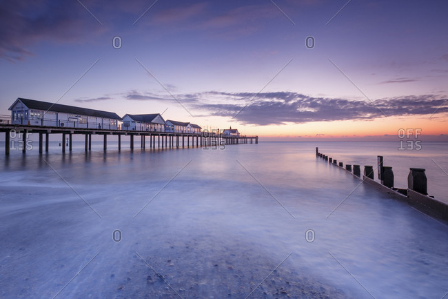 Southwold, Suffolk, England, United Kingdom, Europe - November 5, 2017: Southwold Pier at dawn