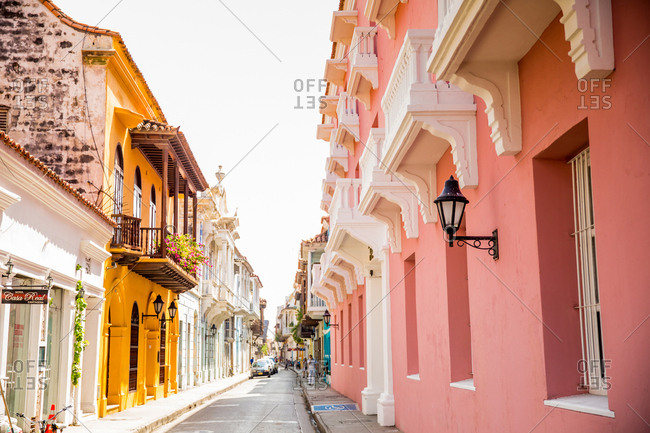 Cartegena, Colombia, South America - December 5, 2015: Old Town
