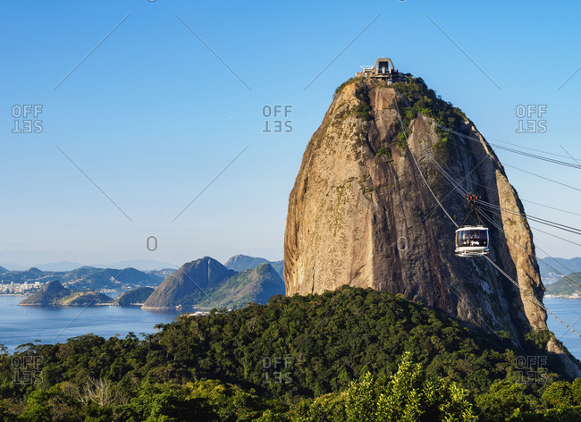Rio de Janeiro, Brazil, South America - June 18, 2017: Sugarloaf Mountain Cable Car