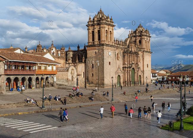 Cusco, Peru, South America - February 11, 2017: Cathedral of Cusco, UNESCO World Heritage Site