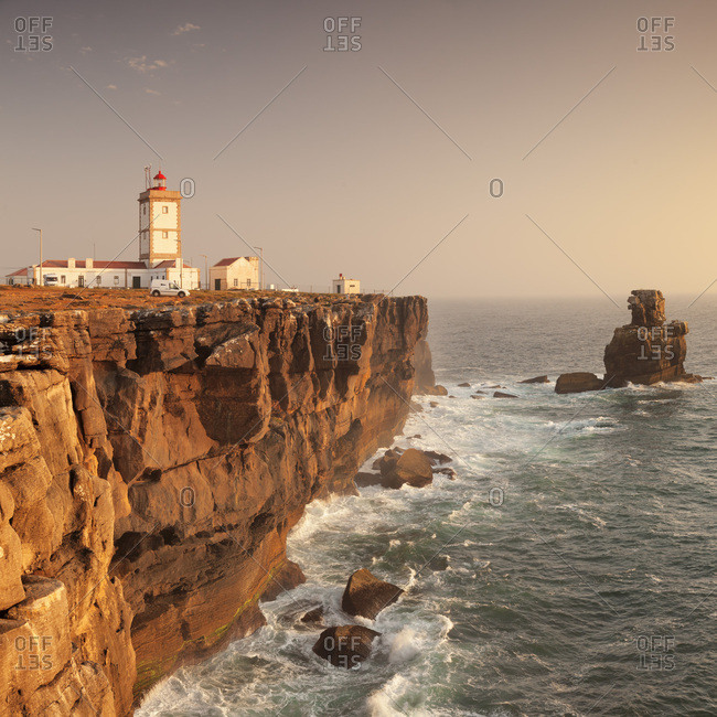 Cabo Carvoeiro lighthouse, Costa da Prata, Silver Coast, Peniche, Atlantic Ocean, Portugal, Europe
