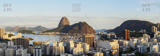 View over Botafogo towards the Sugarloaf Mountain, Rio de Janeiro, Brazil, South America