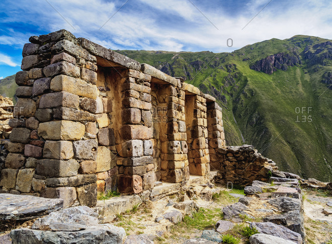 Inca Temple Ruins, Ollantaytambo, Sacred Valley, Cusco Region, Peru, South America