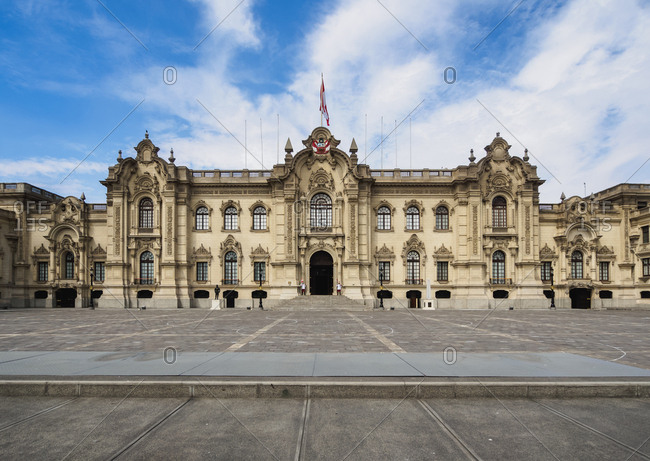 Government Palace, Plaza de Armas, Lima, Peru, South America