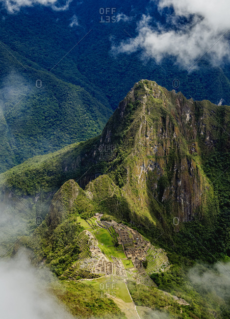 Machu Picchu Ruins seen from the Machu Picchu Mountain, UNESCO World Heritage Site, Cusco Region, Peru, South America