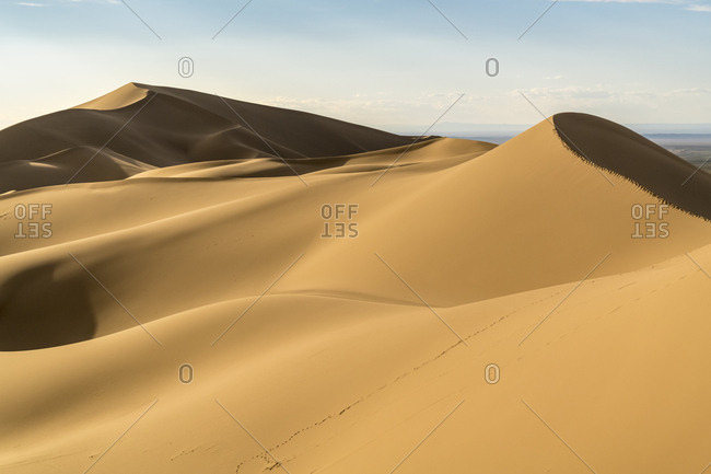 Khongor sand dunes in Gobi Gurvan Saikhan National Park, Sevrei district, South Gobi province, Mongolia, Central Asia, Asia