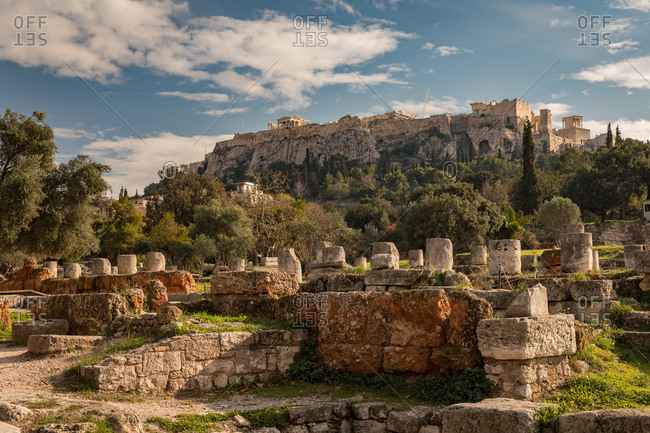 The Ancient Agora and the Acropolis of Athens