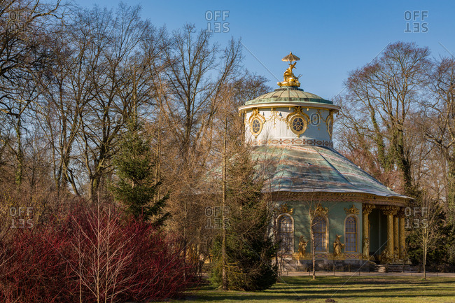 The Chinese House of the Sanssouci Palace in Potsdam near Berlin