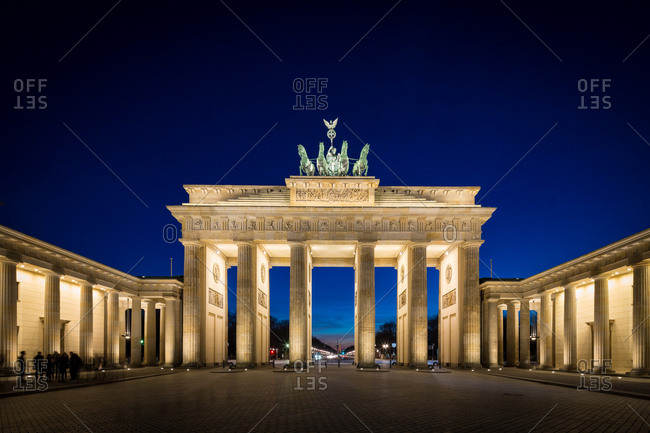 The Brandenburg Gate in Berlin at Sunset