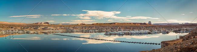 Panorama of Lake Powell's Harbor