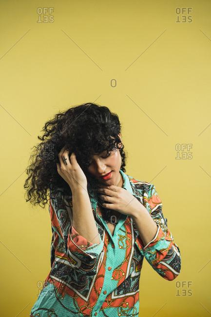 Sensual woman posing in studio