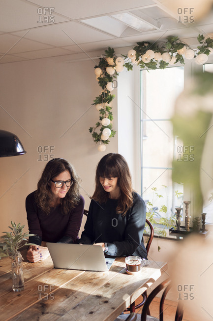 Two women on business meeting