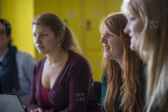 Women during business meeting