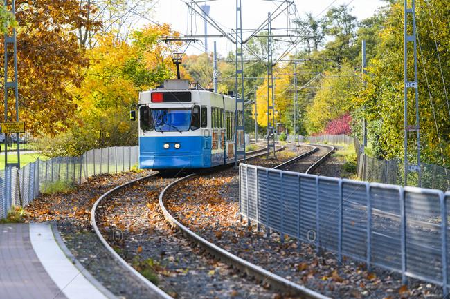 Train in city