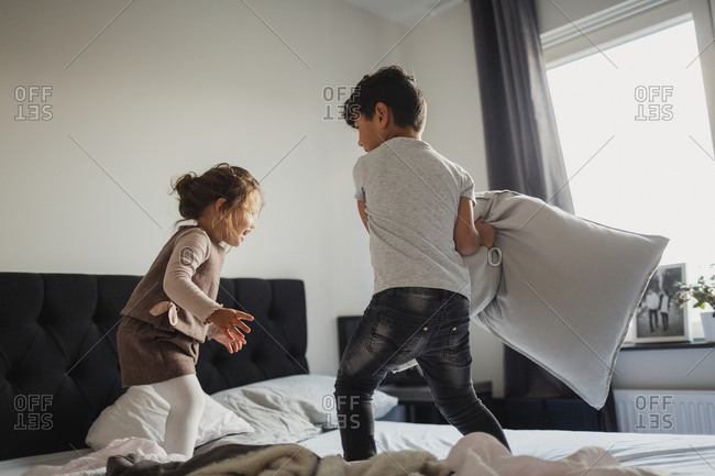 Kids playing in bedroom
