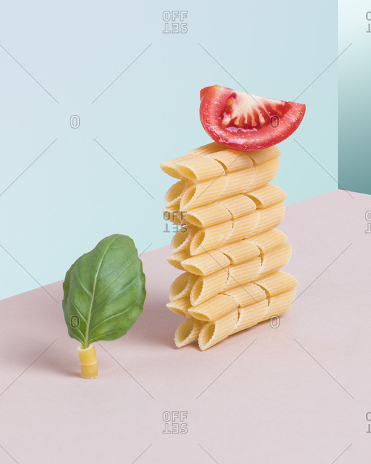 Pop surreal food presentation