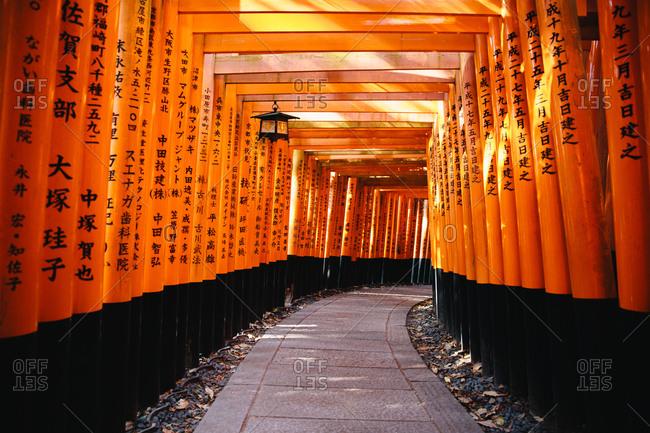 Interior Torii gate structure